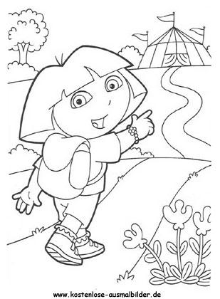 Ausmalbild Dora 8