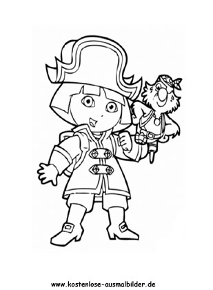 Ausmalbild Dora 9