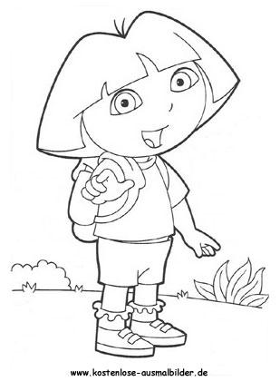 Ausmalbild Dora