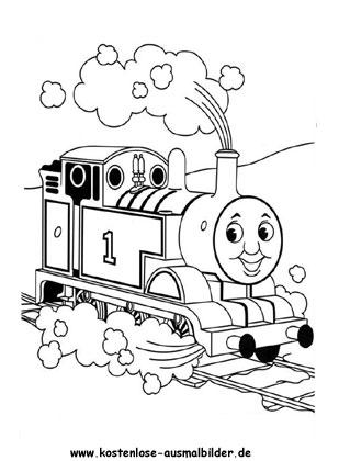 Ausmalbilder Malvorlagen Thomas Die Kleine Lokomotive Thomas