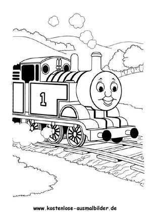 ausmalbilder - malvorlagen thomas die kleine lokomotive
