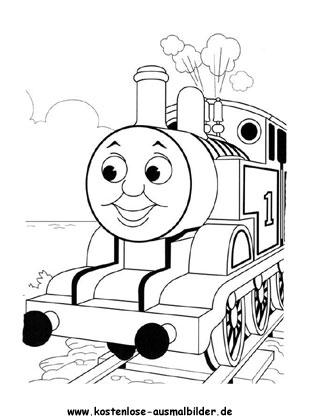 Ausmalbild Thomas die Lokomotive Malvorlagen