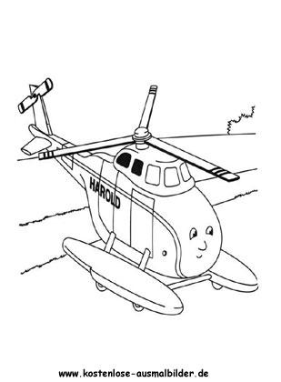 Hubschrauber Ausmalbild Fernsehen Ausmalen Malvorlagen Thomas