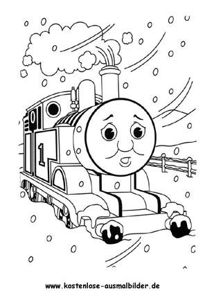 Thomas im Schnee Ausmalbild - fernsehen ausmalen   Malvorlagen ...