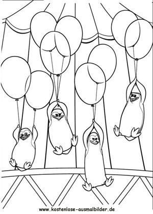 Ausmalbilder Madagascar 3 Pinguine 3 - kino zum ausmalen ...