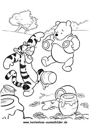 Ausmalbild Winnie Puuh Tigger