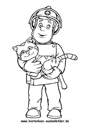 Ausmalbilder Malvorlagen Feuerwehrmann Sam