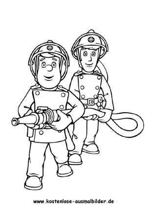 Ausmalbild Feuerwehrmann Sam