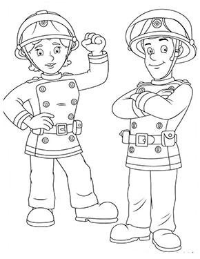 Feuerwehrmann Sam Ausmalbild Penny Und Sam
