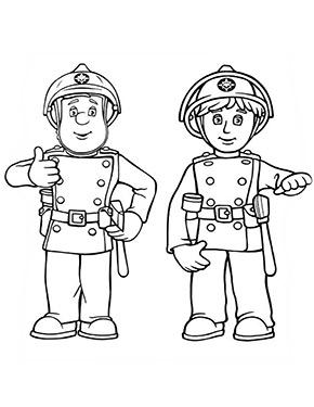 Feuerwehrmann Sam Ausmalbild Sam Und Penny