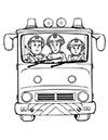 Ausmalbild Feuerwehrauto Jupiter