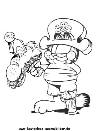 Ausmalbild Garfield 10