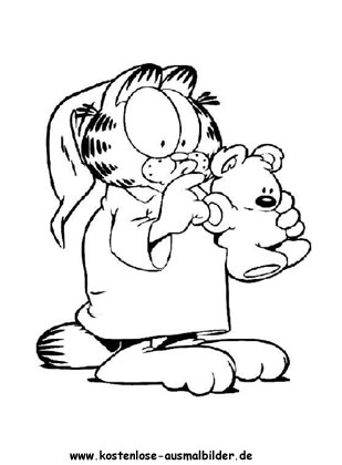 Ausmalbild Garfield 3