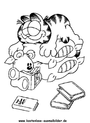 Ausmalbild Garfield 5